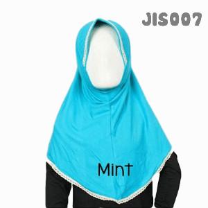 Shira SHRA - JIS007 Jilbab Bergo Renda Anak Mint
