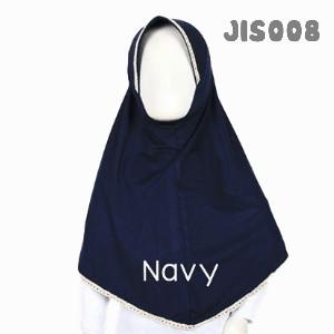 Shira SHRA - JIS008 Jilbab Bergo Renda Anak Navy Blue