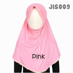 Shira SHRA - JIS009 Jilbab Bergo Renda Anak Pink