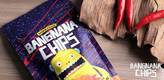 Cemilan Makanan Ringan Bangnana Chips Rasa Balado