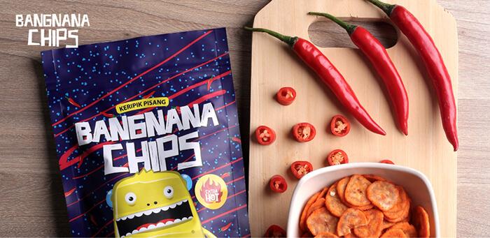 Cemilan Makanan Ringan Bangnana Chips Rasa Balado Extra Hot
