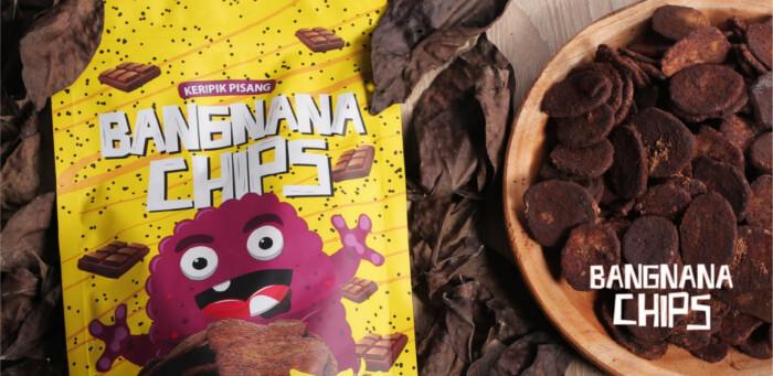 Cemilan Makanan Ringan Bangnana Chips Rasa Cokelat