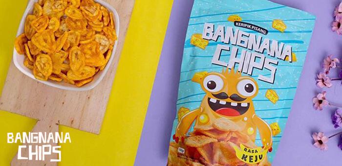 Cemilan Makanan Ringan Bangnana Chips Rasa Keju