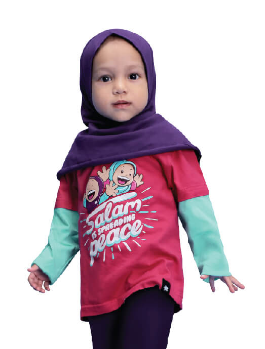 Kaos Afrakids AF203 Salam is Spreading Peace