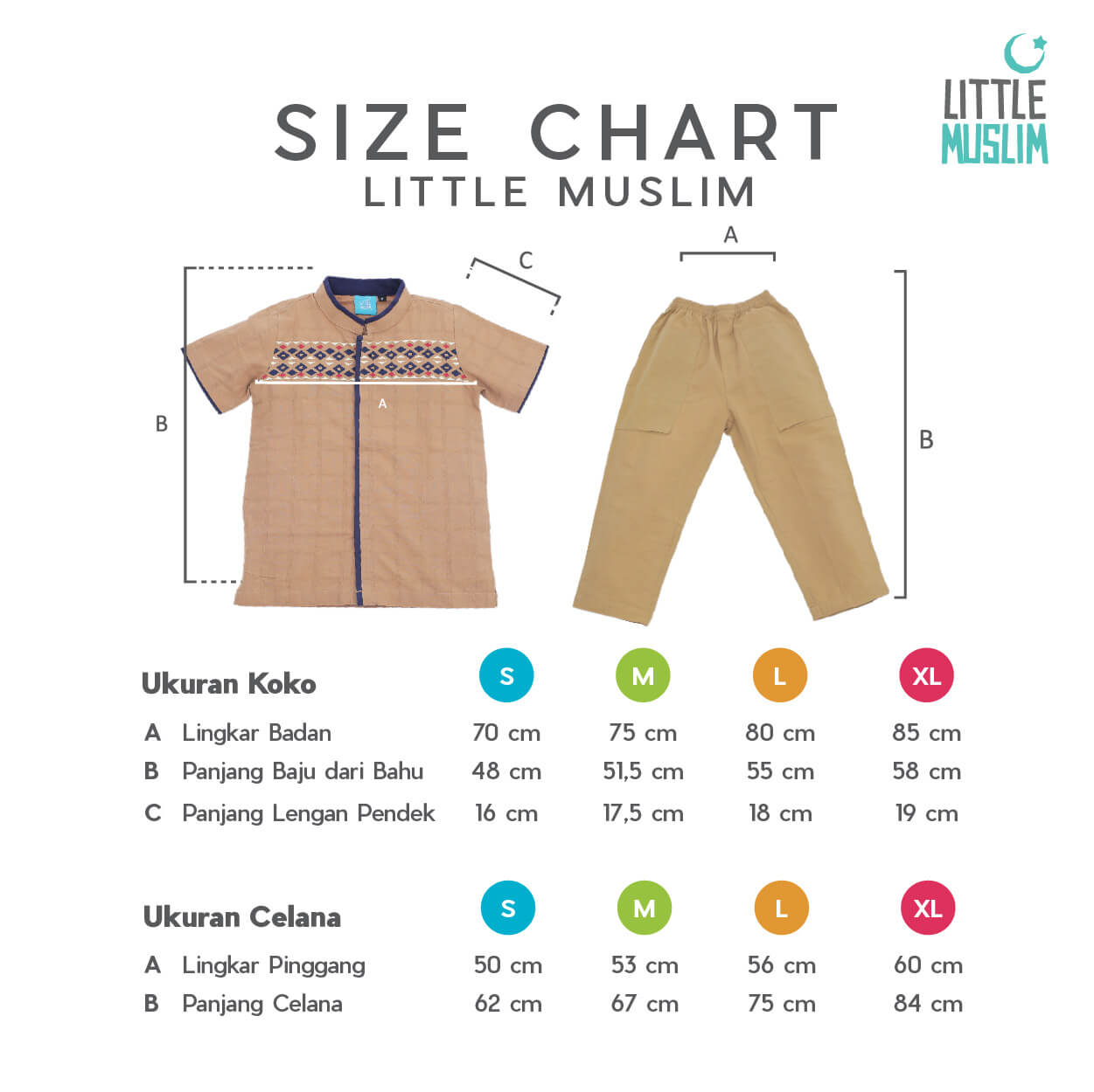 Size Chart Little Muslim