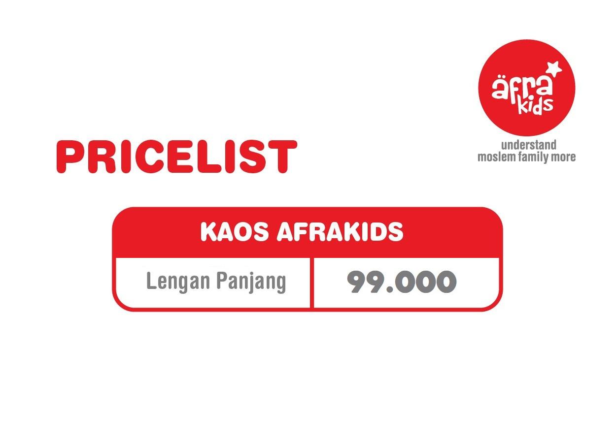 Pricelist Kaos Anak Muslim Afrakids