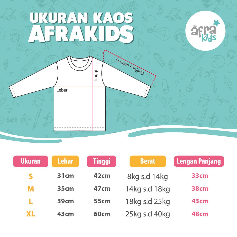 Size Chart Kaos Afrakids