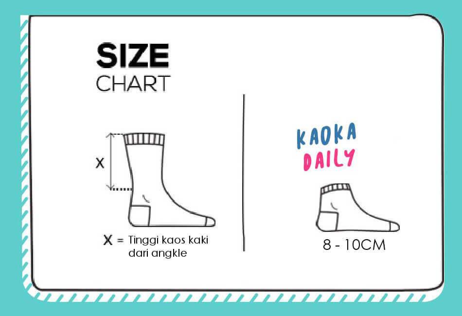 Size Chart Kaos Kaki Kaoka Daily