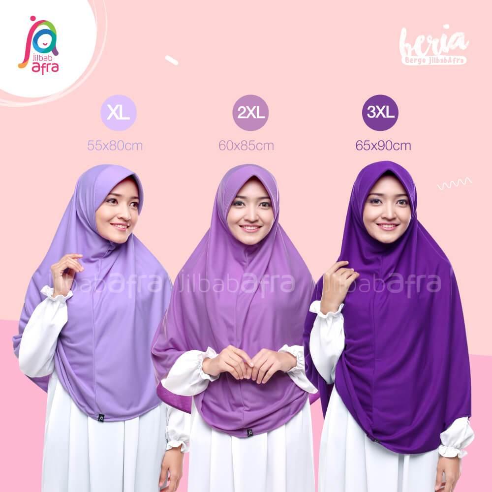Size Chart Jilbab Afra Amira