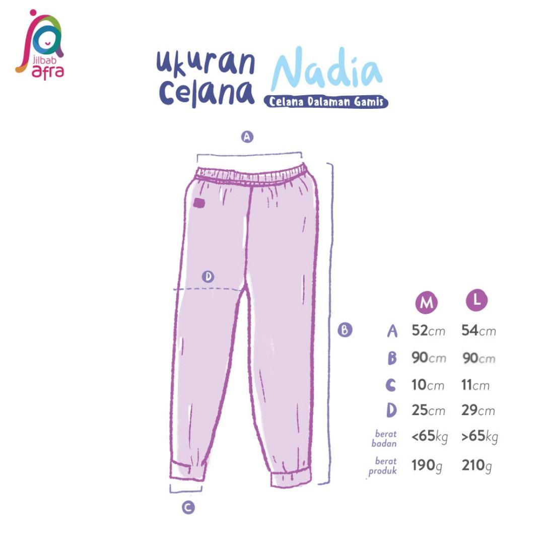 Ukuran Celana Dalaman Gamis Nadia