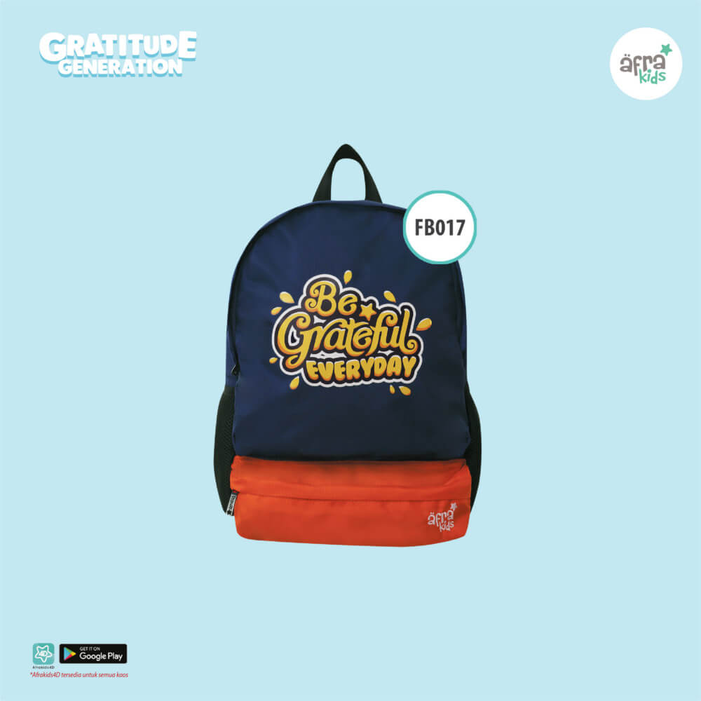 First Backpack Afrakids AFRA - FB017 Be Grateful Everyday