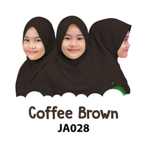 Afrakids AFRA - JA028 Jilbab Afrakids Coffee Brown