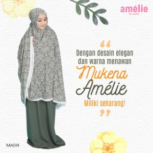 Mukena Amelie AMLI - MA014 Hijau Army