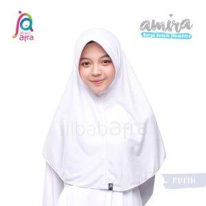 Jilbab Afra JAFR - Amira 01 Putih
