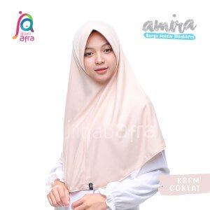 Jilbab Afra JAFR - Amira 06 Krem Coklat