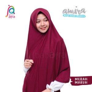 Jilbab Afra JAFR - Amira 12 Merah Marun