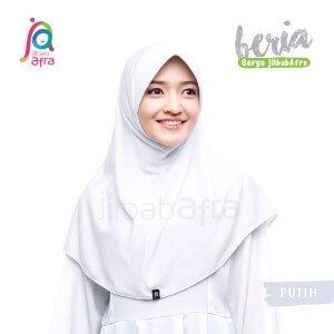 Jilbab Afra JAFR - Beria 01 Putih