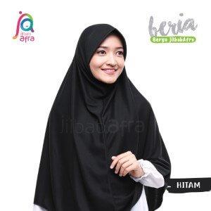 Jilbab Afra JAFR - Beria 06 Hitam