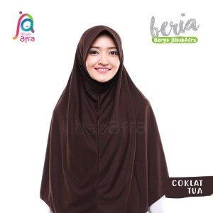 Jilbab Afra JAFR - Beria 12 Coklat Tua