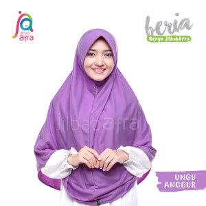 Jilbab Afra JAFR - Beria 17 Ungu Anggur
