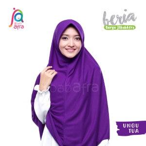 Jilbab Afra JAFR - Beria 18 Ungu Terong