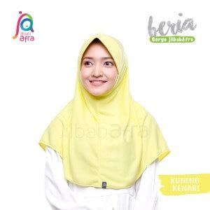 Jilbab Afra JAFR - Beria 19 Kuning Kenari