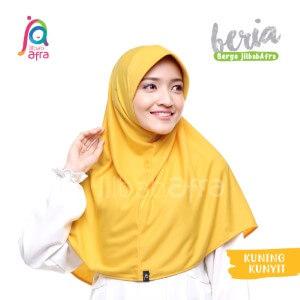 Jilbab Afra JAFR - Beria 20 Kuning Kunyit