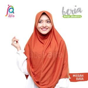 Jilbab Afra JAFR - Beria 22 Merah Bata