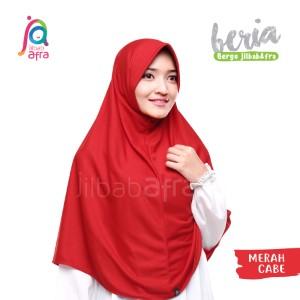 Jilbab Afra JAFR - Beria 23 Merah Cabe
