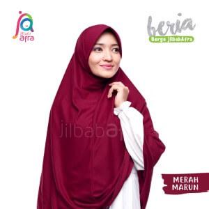Jilbab Afra JAFR - Beria 24 Merah Marun