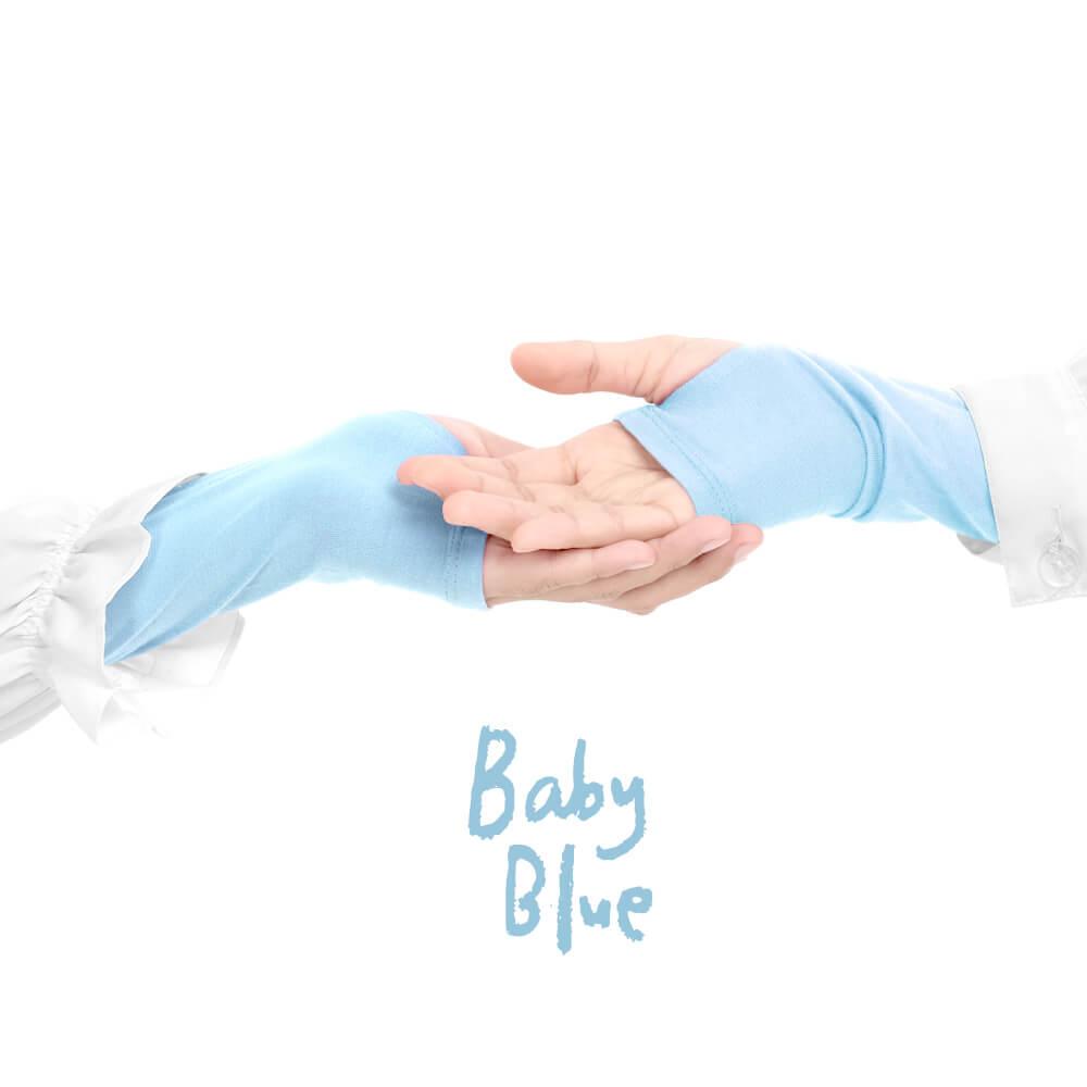 Jilbab Afra Handsock JAFR - Hasna Baby Blue