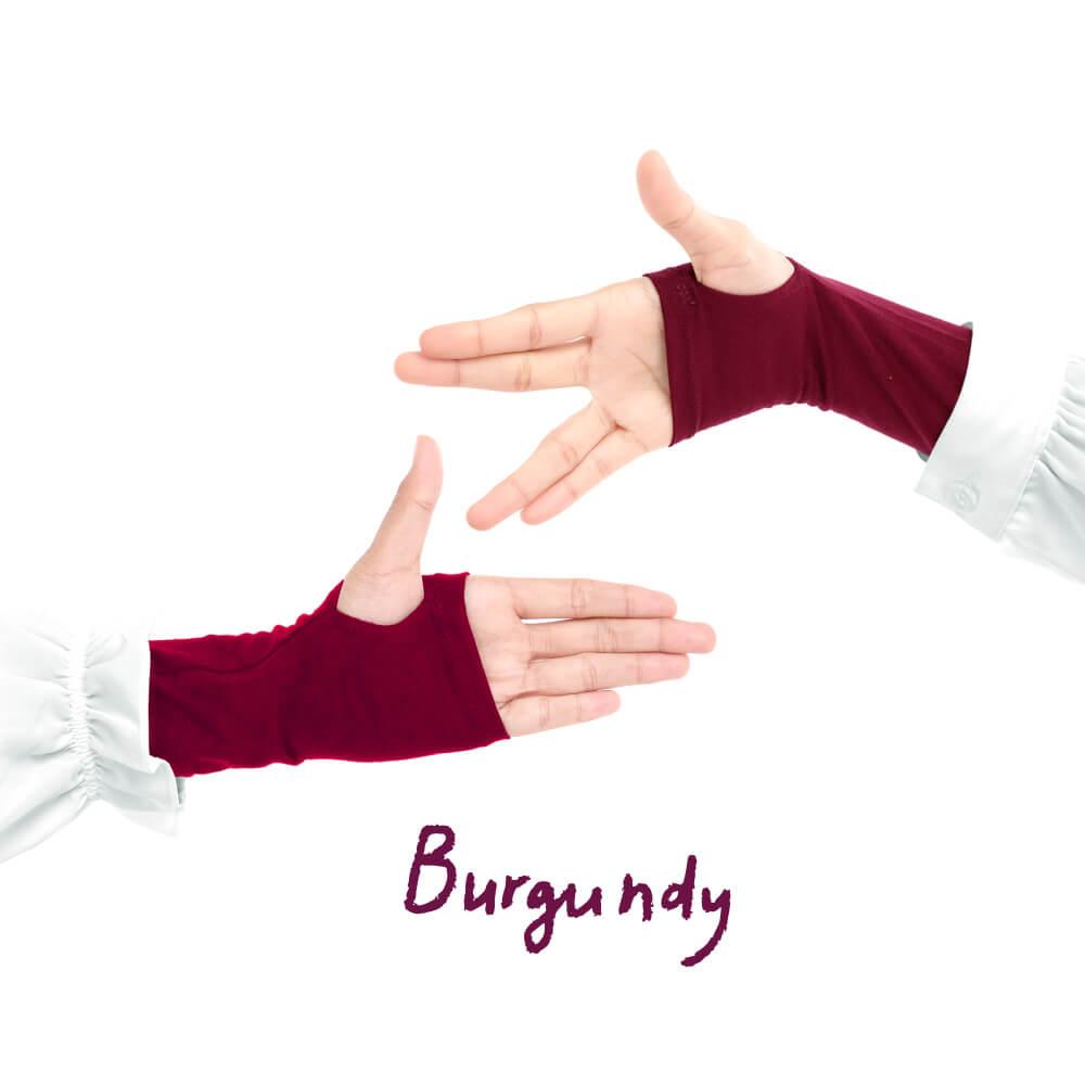 Jilbab Afra Handsock JAFR - Hasna Burgundy