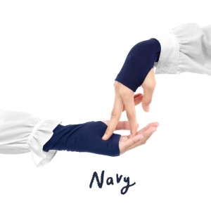 Jilbab Afra Handsock JAFR - Hasna Navy