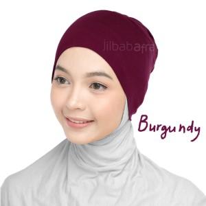 Jilbab Afra Ciput Inner JAFR - Inara Burgundy