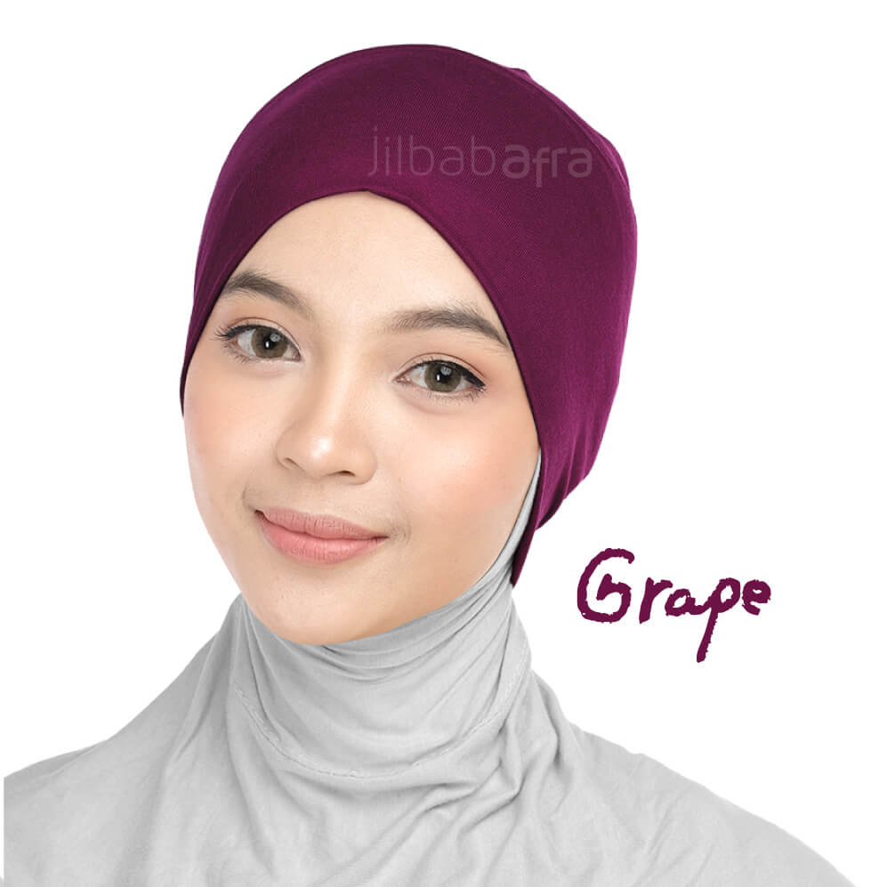 Jilbab Afra Ciput Inner JAFR - Inara Grape