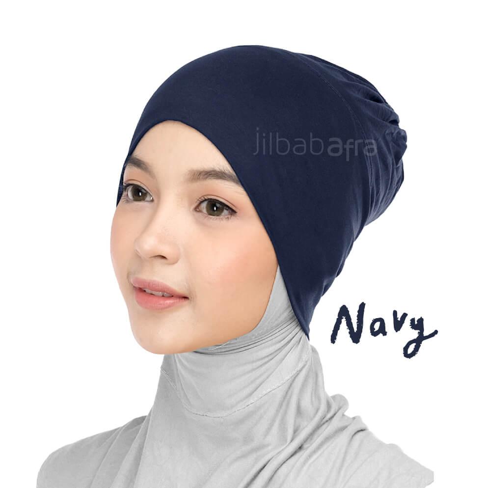 Jilbab Afra Ciput Inner JAFR - Inara Navy