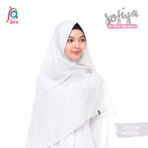 Jilbab Afra Khimar JAFR - Sofiya 01 Snow White