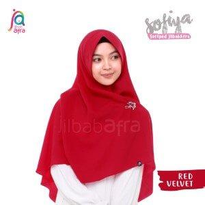 Jilbab Afra Khimar JAFR - Sofiya 04 Red Velvet