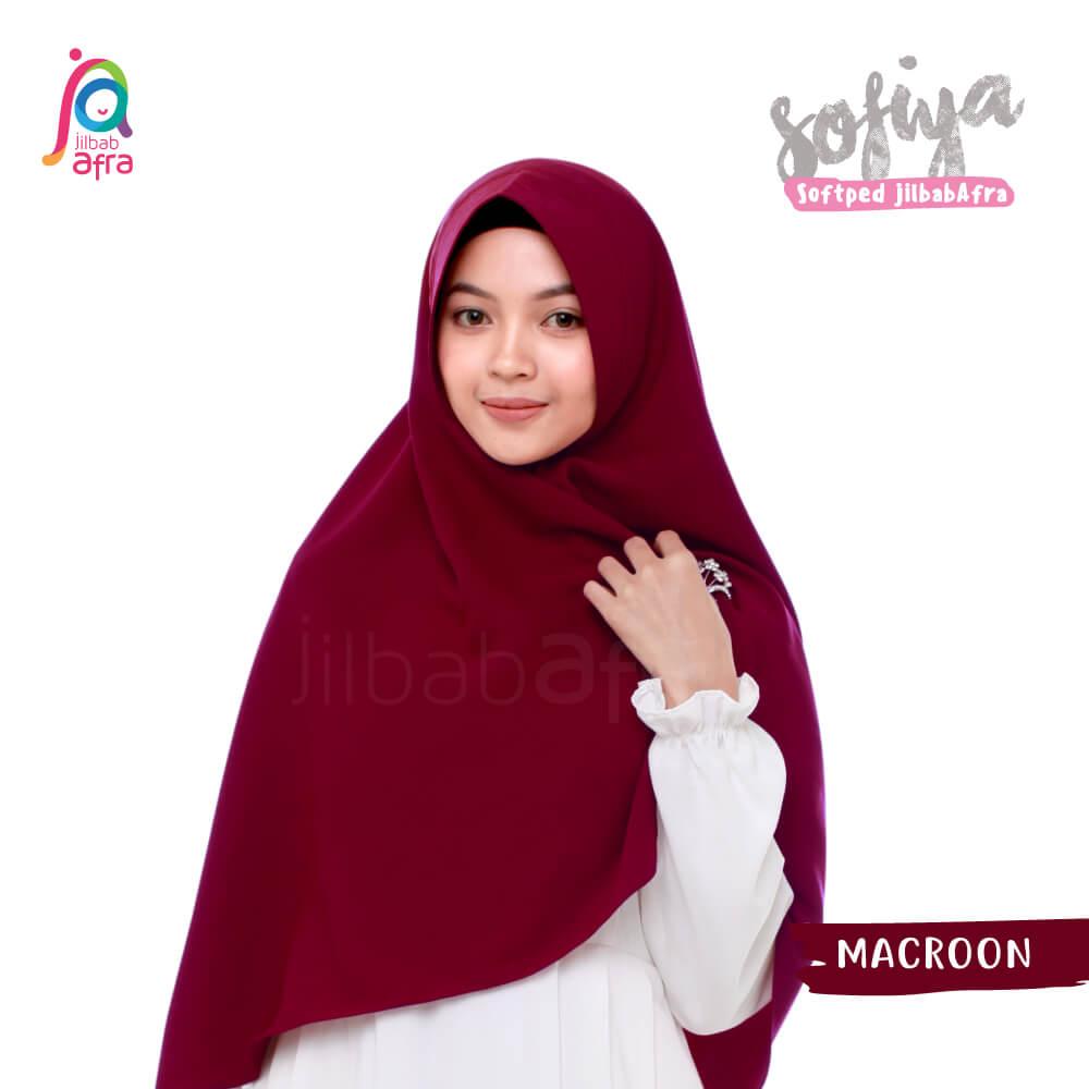 Jilbab Afra Khimar JAFR - Sofiya 05 Macaroon