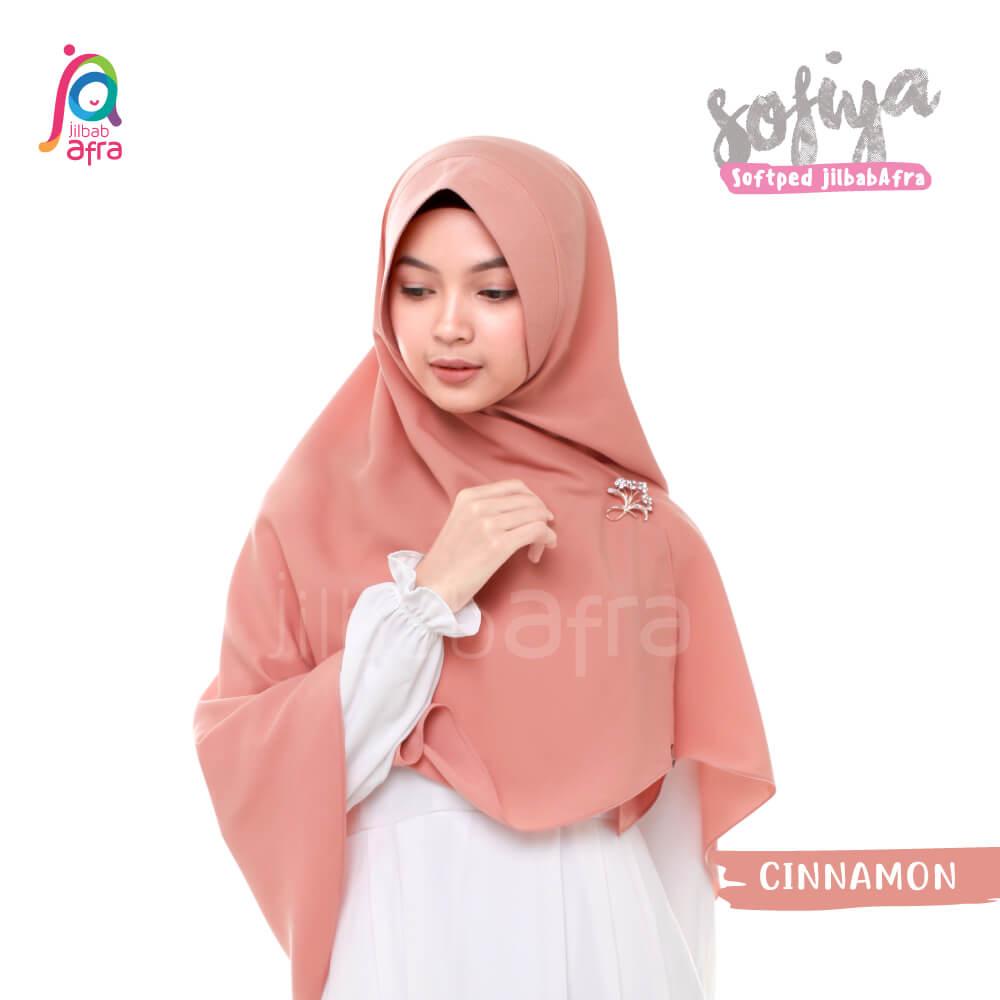 Jilbab Afra Khimar JAFR - Sofiya 06 Cinnamon