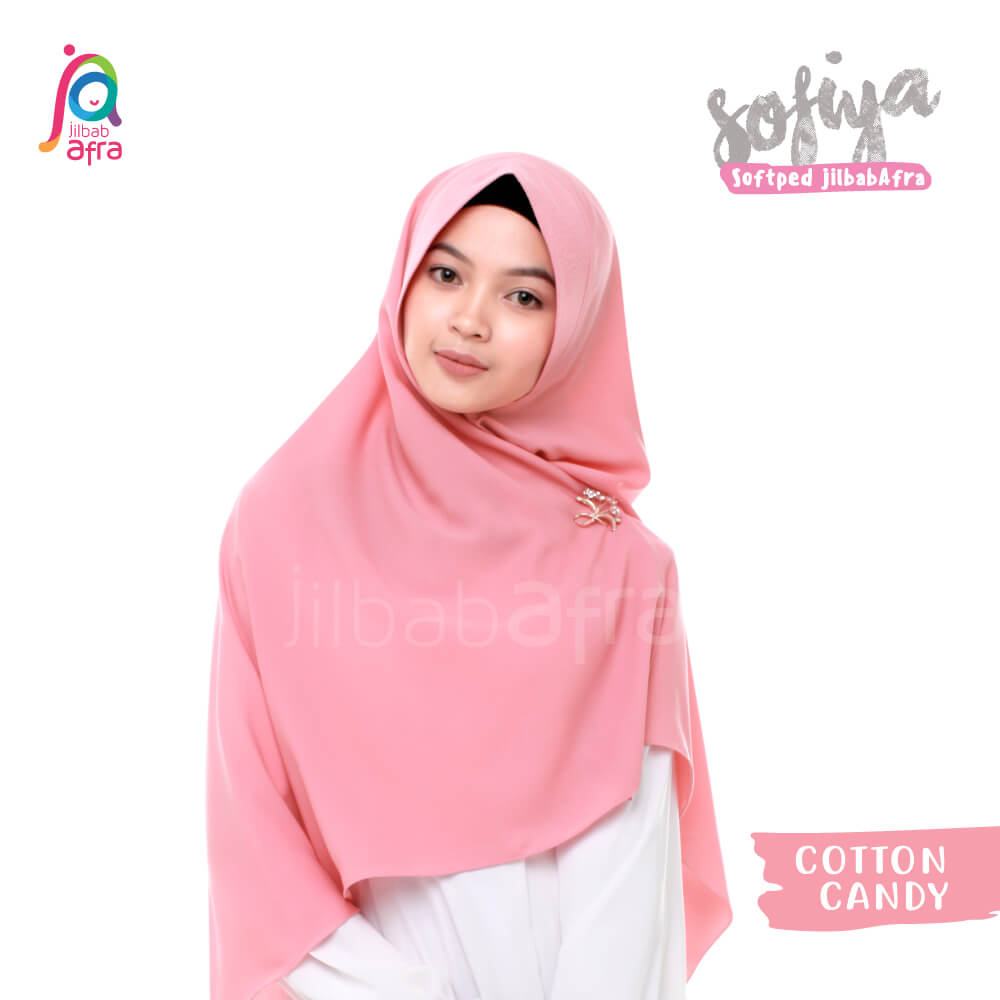 Jilbab Afra Khimar JAFR - Sofiya 08 Cotton Candy