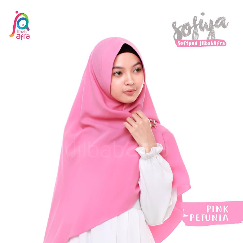 Jilbab Afra Khimar JAFR - Sofiya 09 Pink Petunia