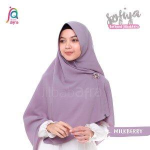 Jilbab Afra Khimar JAFR - Sofiya 10 Milkberry