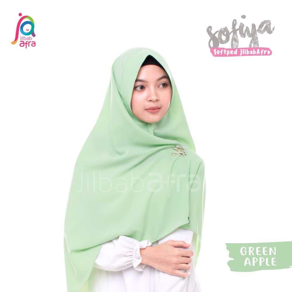 Jilbab Afra Khimar JAFR - Sofiya 11 Green Apple