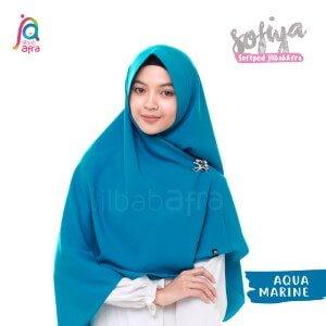 Jilbab Afra Khimar JAFR - Sofiya 13 Aquamarine