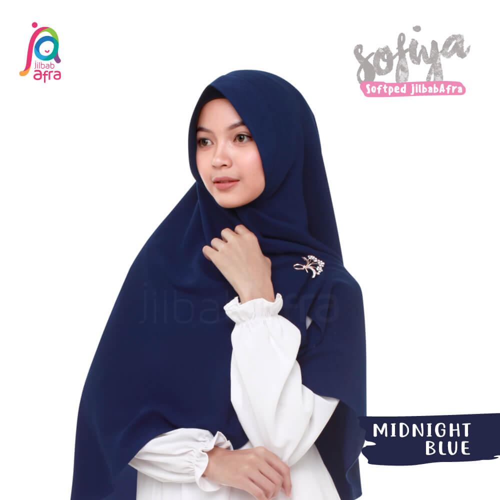 Jilbab Afra Khimar JAFR - Sofiya 15 Midnight Blue