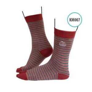Kaos Kaki Kaoka Modest KAOK - KM007 Maroon Stripes