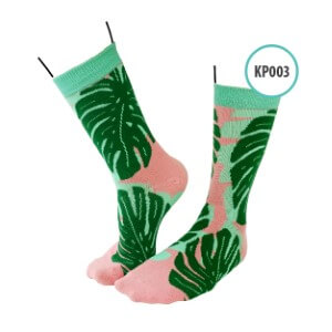 Kaos Kaki Kaoka Pattern KAOK - KP003 Monstera Leaves
