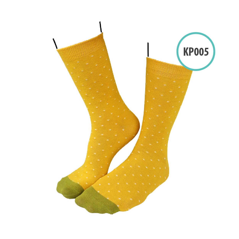 Kaos Kaki Kaoka Pattern KAOK - KP005 Mustard Polka