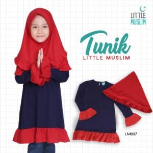 Set Baju Tunik Anak & Jilbab Little Muslim AFRA - LM007